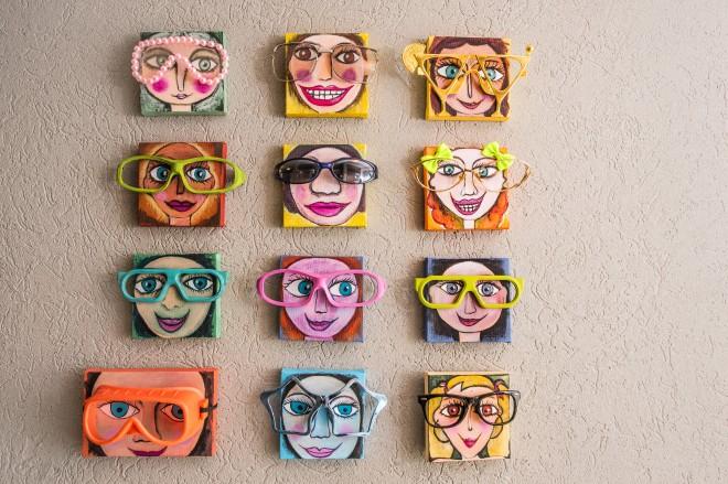 עבודה של האמנית סנדרה גל בבית בעיצובי