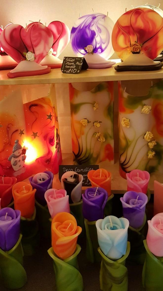 נרות בעבודת יד בשוק covent garden