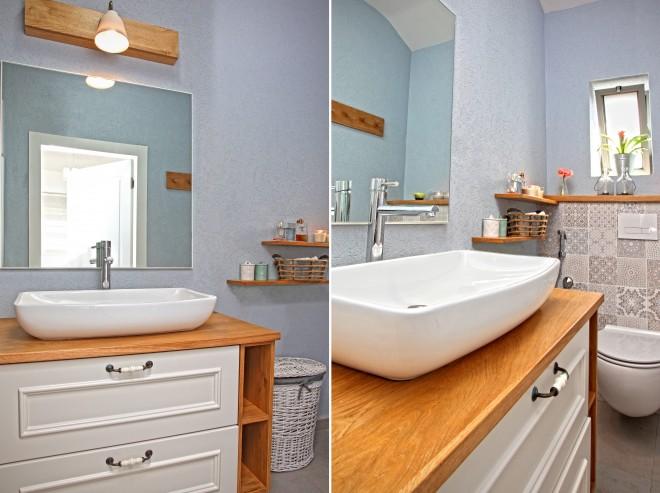 אמבטיית הורים במראה כפרי