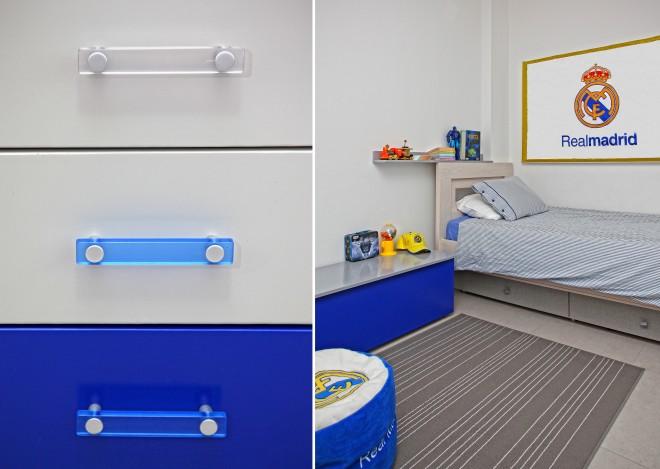 חדרי הבנים עוצבו בסגנון קבוצות הספורט האהובות