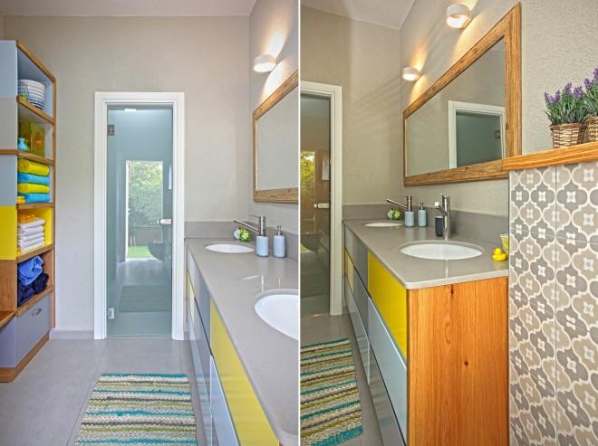 מקלחות הבנים בצבעים עליזים