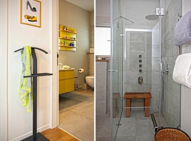 המקלחת במראה בטון