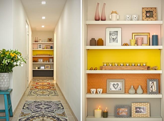 המסדרון המוביל אל חדר השינה מכיל אלמנטים עיצוביים מאותו עולם