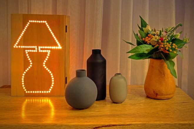קופסת תאורה בעיצוב בית מלאכה- סטודיו לאומנות ישראלית
