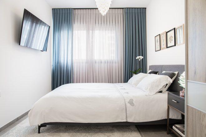 חדר השינה הכללי הפך לסוויטה עוטפת ומרגיעה