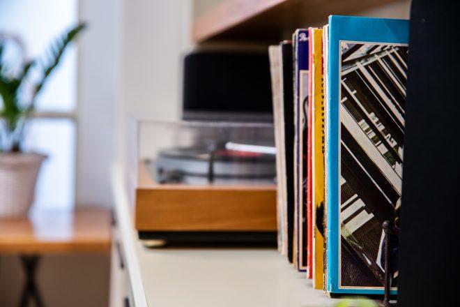 אוסף התקליטים נשמר וקיבל מקום של כבוד